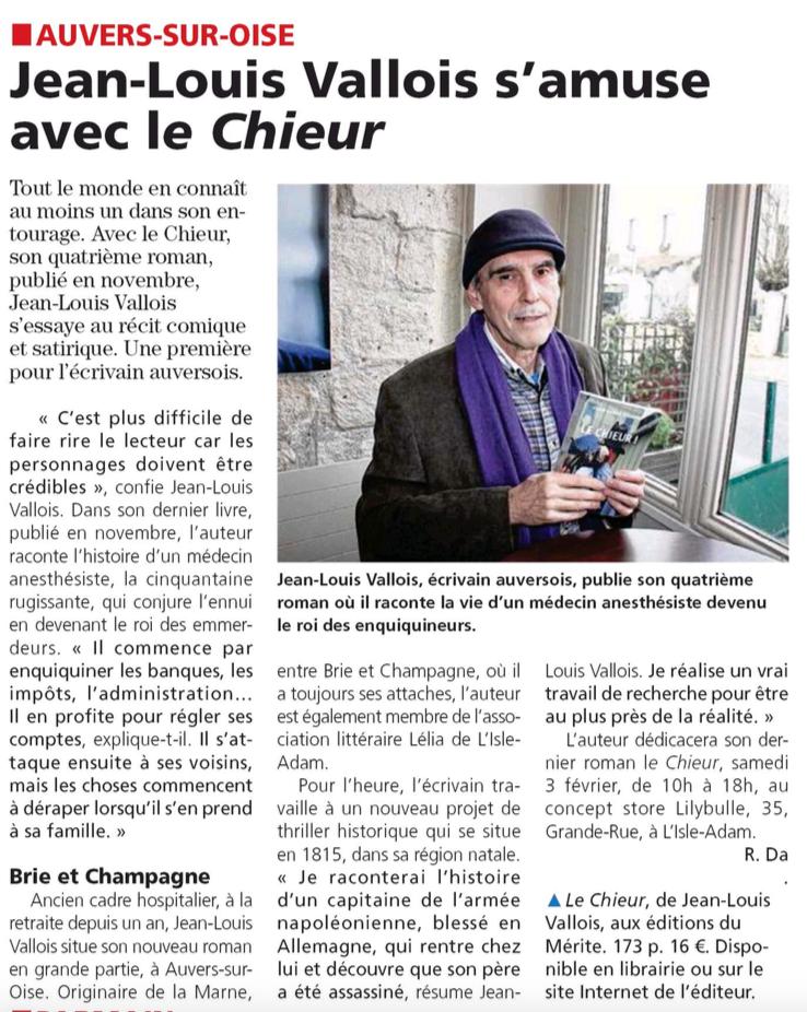 Jean-Louis Vallois dans l'Echo le Régional