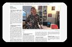 Noëlle Marchand dans le Journal Ouest-France du jeudi 20 aout 2020, pour son livre « Mandibar ».