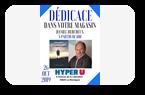 Daniel Bercheux en dédicace à l'espace librairie de l'HyperU La Montagne