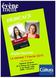 Brigitte Bourrette sera en dédicace dans le magasin Cultura de Valence (26000).
