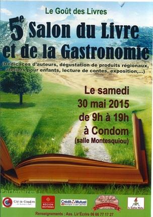 Christine Dauzère, salon du livre de condom, 2015