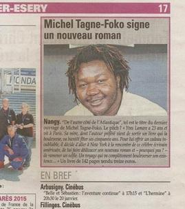 Michel Tagne Foko dans le Messager Genevois