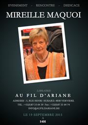 Librairie Au Fil d'Ariane recevra Mireille Maquoi.