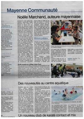 Noëlle Marchand dans l'hebdomadaire Le Courrier de la Mayenne, pour son livre « Mandibar ».