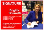 BRIGITTE BOURRETTE, Salon du livre de Paris.