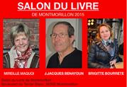 mireille maqoi, jean jacques bénayoun, brigitte bourrette, salon du livre de montmorillon
