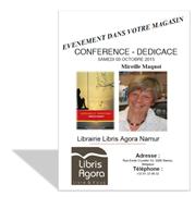 Mireille Maquoi En dédicace à la librairie Agora de Namur