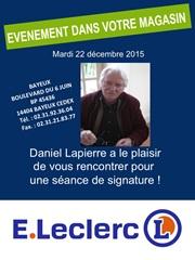 Daniel Lapierre en dédicace à l'espace culturel leclerc de Bayeux
