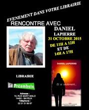 Daniel Lapierre en dédicace à la librairie préambule de bayeux