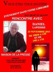 DANIEL LAPIERRE EN DEDICACE A LA MAISON DE LA PRESSE D'Isigny-sur-Mer