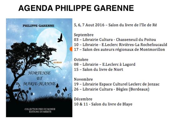 tournée littéraire de philippe garenne