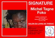 salon du livre de Thénac. Michel Tagne foko, littérature, michel flaque
