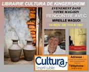 mireille maquoi en dédicace au magasin cultura de KINGERSHEIM