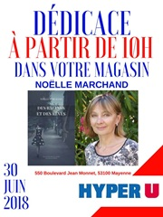 Ce samedi, Noëlle Marchand sera en dédicace à Hyper U Mayenne