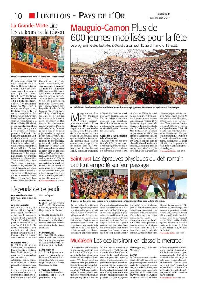 Christiane Grima-Riubrujent dans le quotidien Midi Libre.
